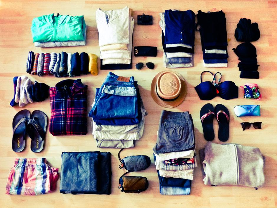 Packen für die Weltreise. Die ultimative Packliste für Abenteurer und Reisesüchtige.