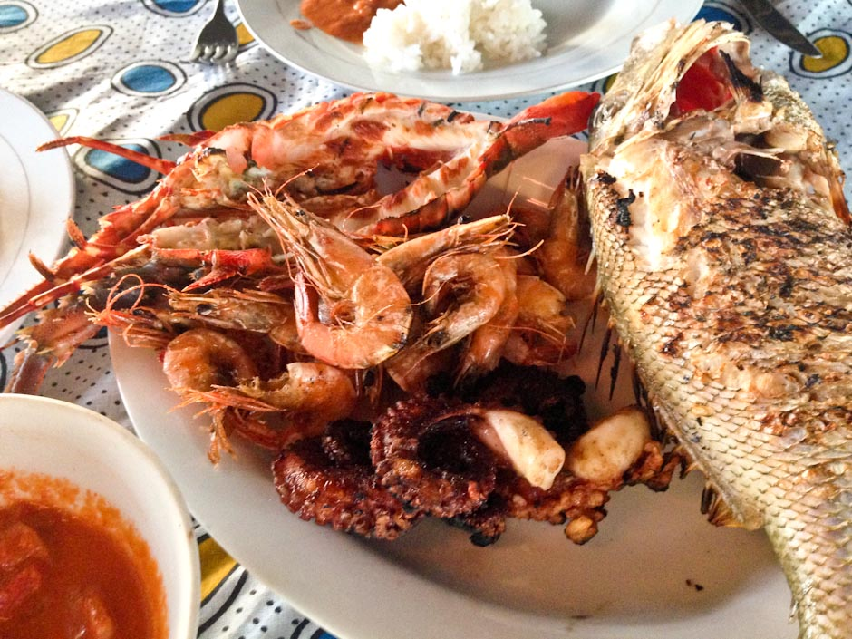 Seafood Platter, Aragosta Restaurante Zanzibar