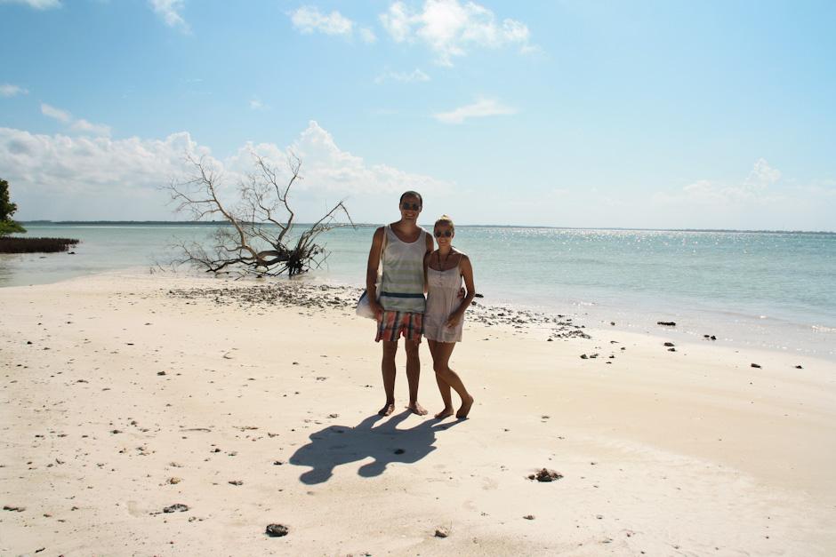 Am Paradise Beach auf Sansibar