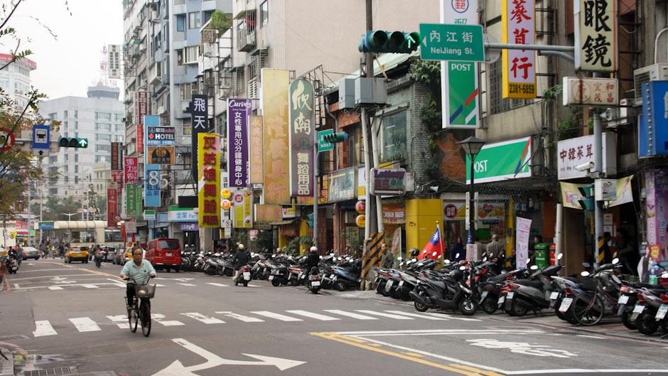 In den Straßen von Taipeh
