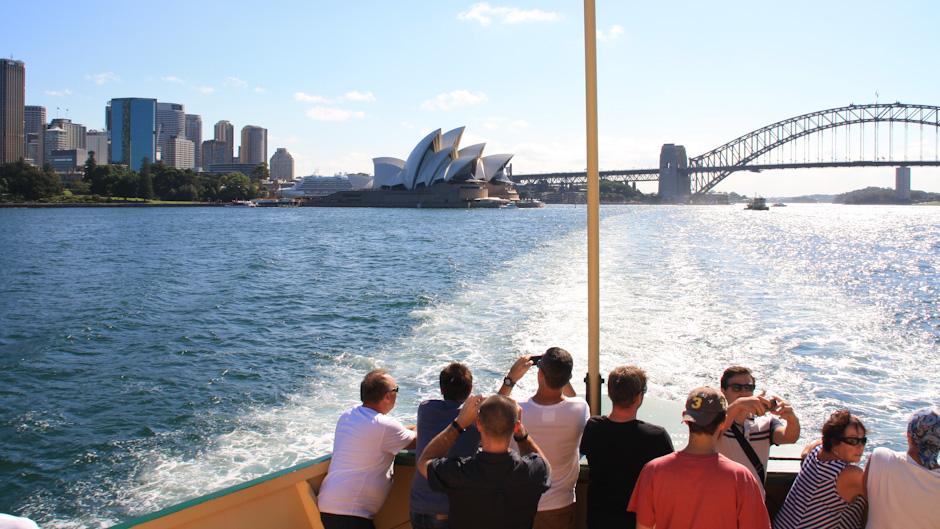 Fährfahrt nach Manly im Port Jackson, Sydney Harbour