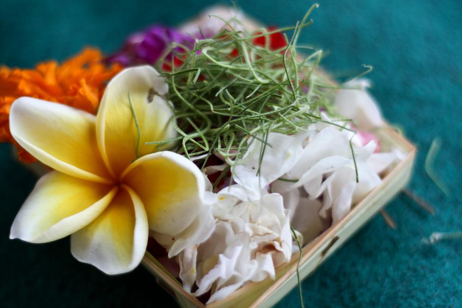 Balinesische Opfergabe