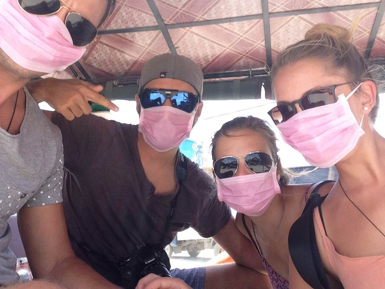 Mit TukTuk und Mundschutz durch Kambodscha