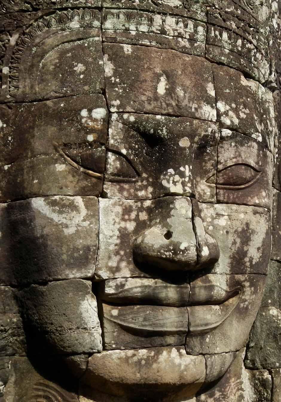 Steingesicht im Bayon-Tempel, Angkor