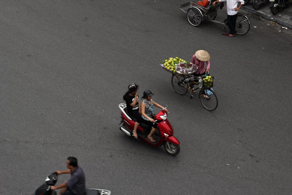 Stadtleben im Old Quarter von Hanoi, Vietnam