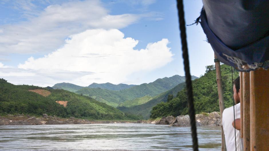 Slow Boat auf dem Mekong River, Laos
