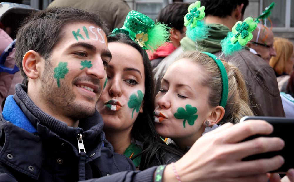 St. Patricks Day im Zentrum von Dublin