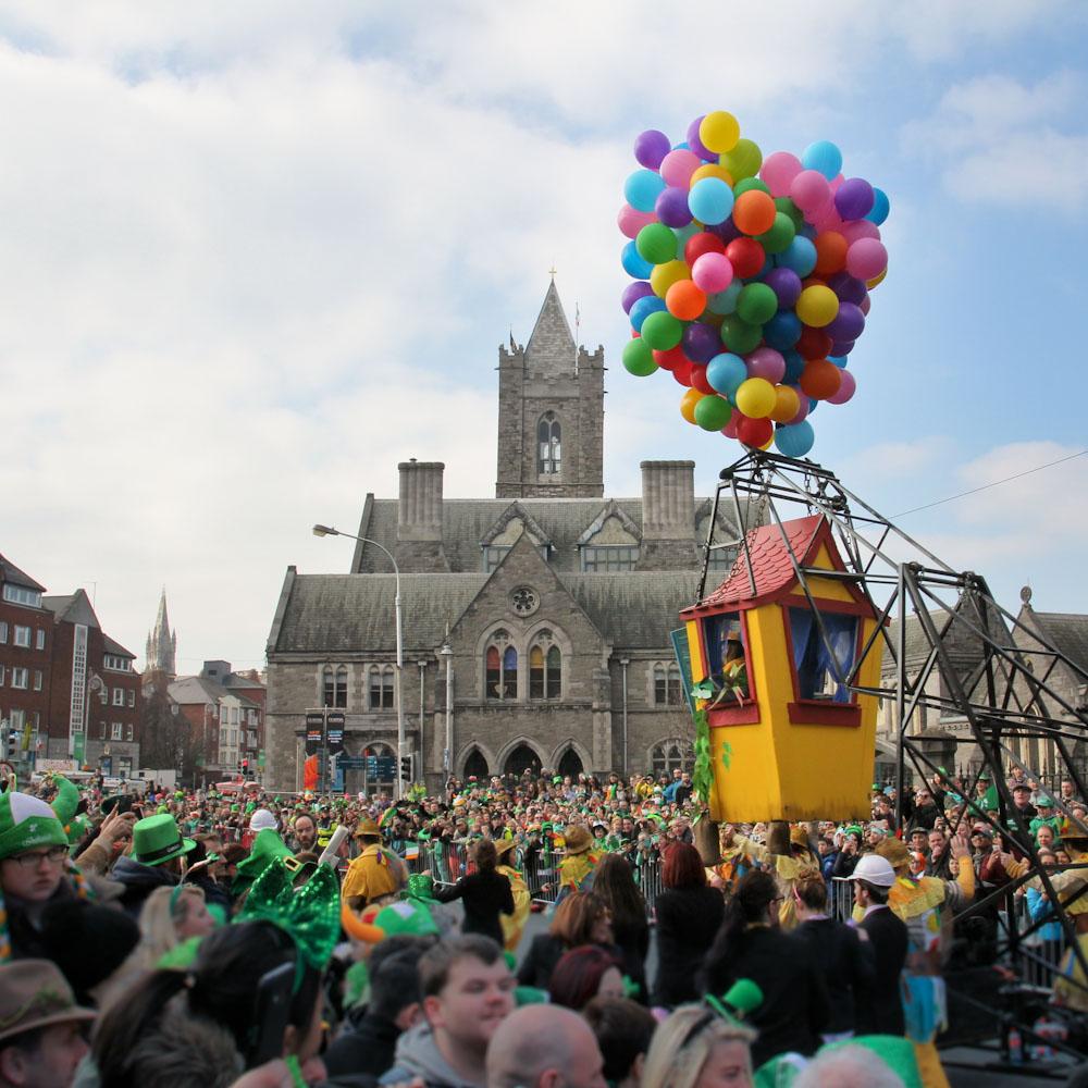 Parade im Zentrum von Dublin, St. Patricks Day