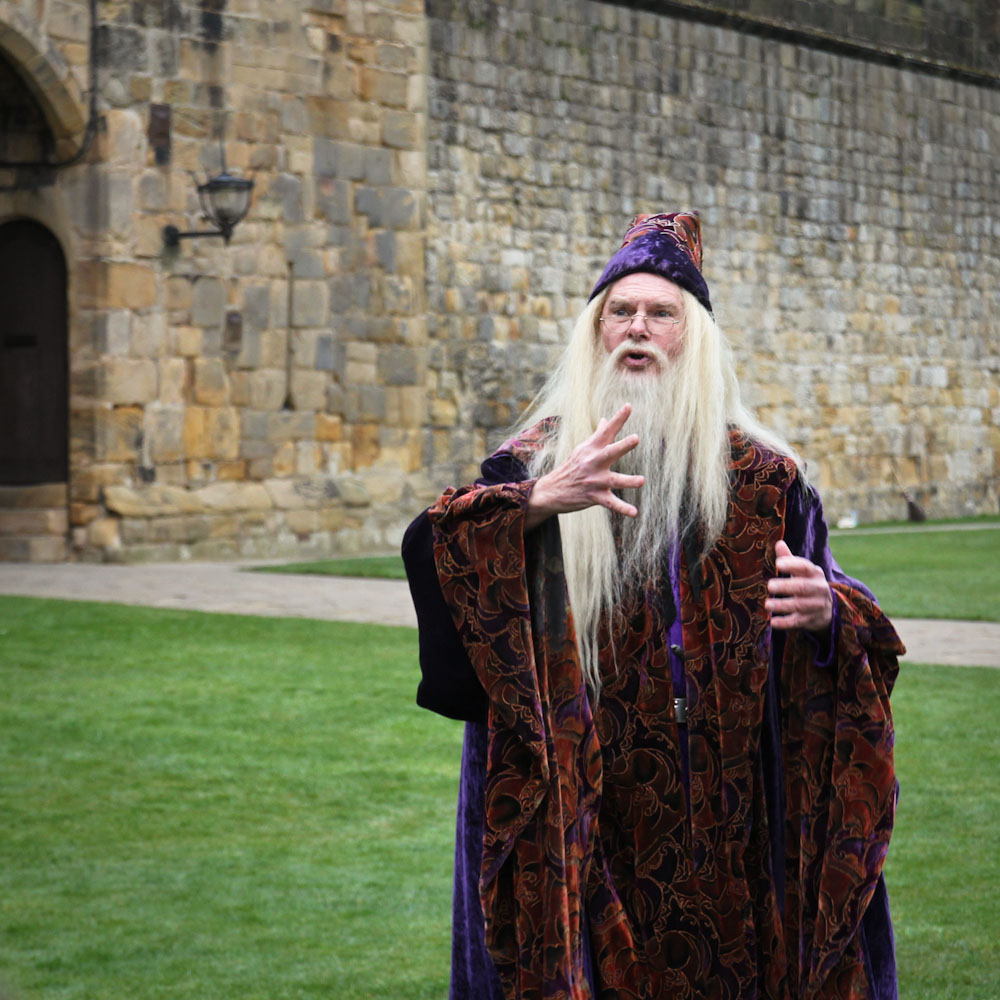 Darsteller von Albus Dumbledore, Alnwick Castle, England