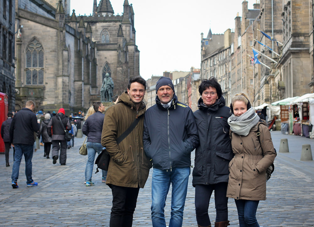 Auf der Royal Mile, Edinburgh