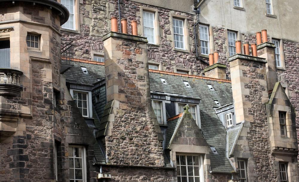 Häuserfassade, Edinburgh