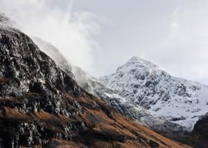 Berggipfel im Glencoe, Schottland