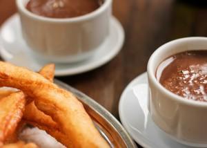 Churros con chocolate, Málaga, Andalusien